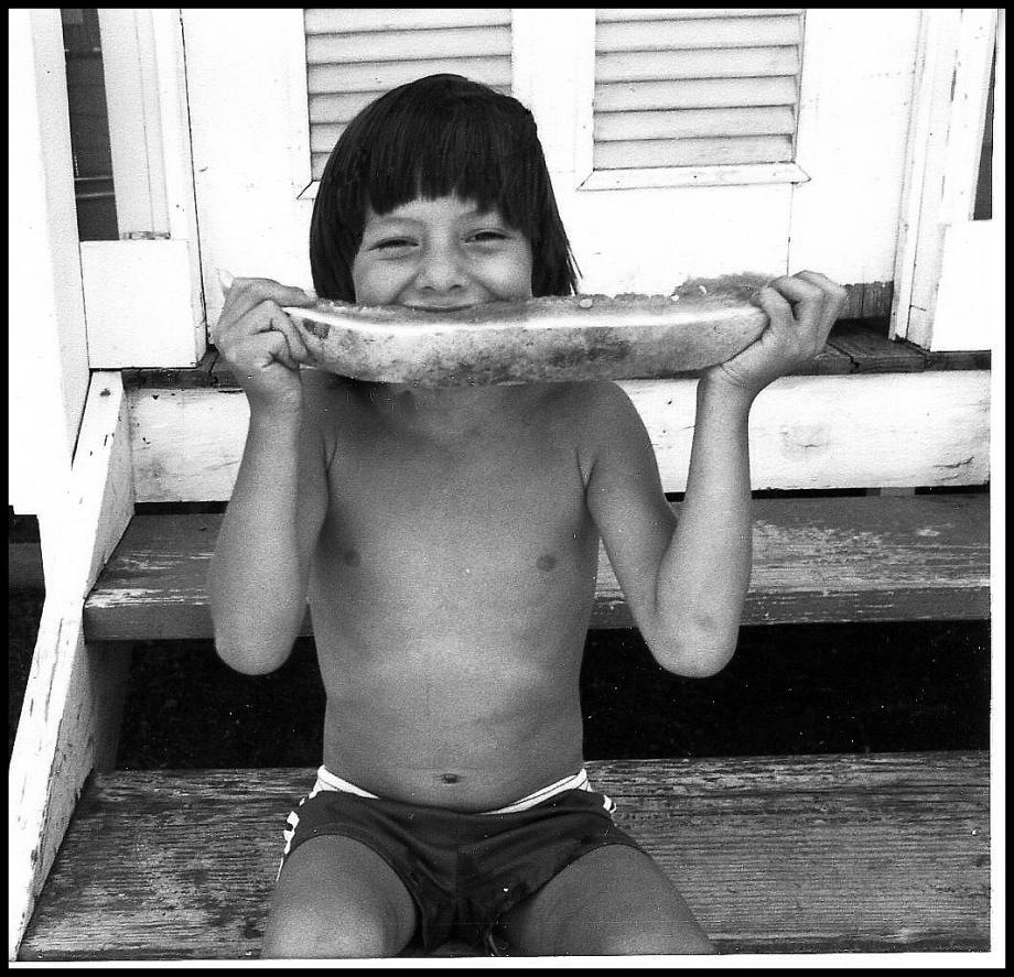 A young American Indian boy enjoying the summer